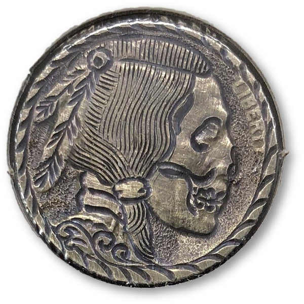 Detailed Undead Indian-Hobo Nickel *rev Tyes* #hbn34322