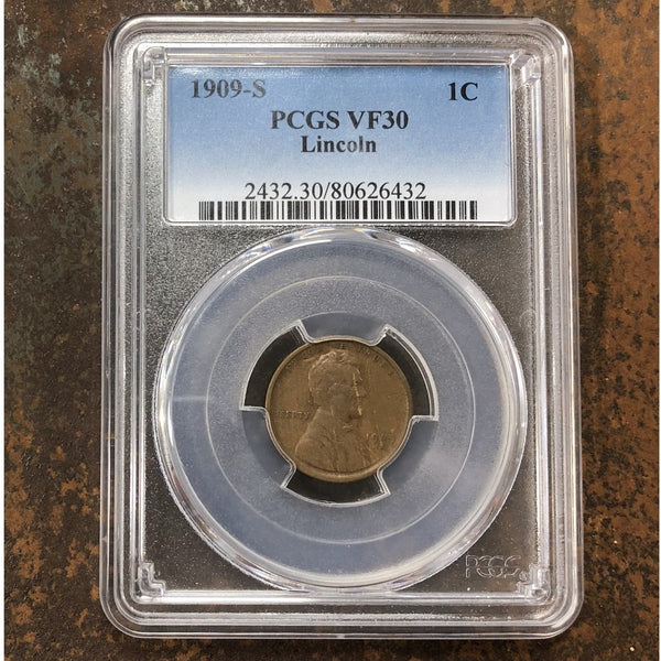 1909 S Lincoln Cent Pcgs Vf30 *rev Tyes* #6432115