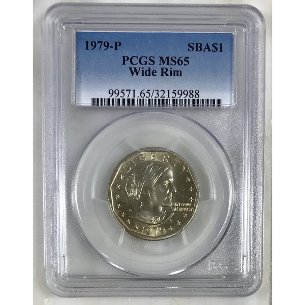 1979 P Susan B Anthony Dollar Wide Rim Pcgs Ms65 #998853 Coin