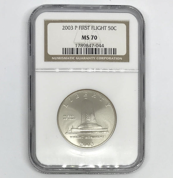 2003 First Flight Half Dollar NGC MS70 *Rev Tye's* #704446