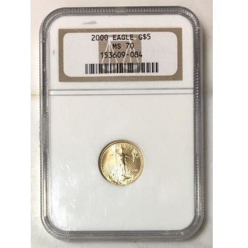 2000 Gold Eagle $5 Ngc Ms70 *rev Tyes* #9084190 Coin