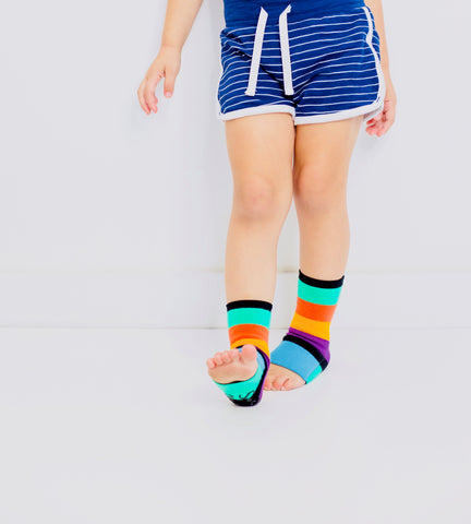 cool, seamless sock for kids that they can cover and uncover their toes for the best traction and grip.