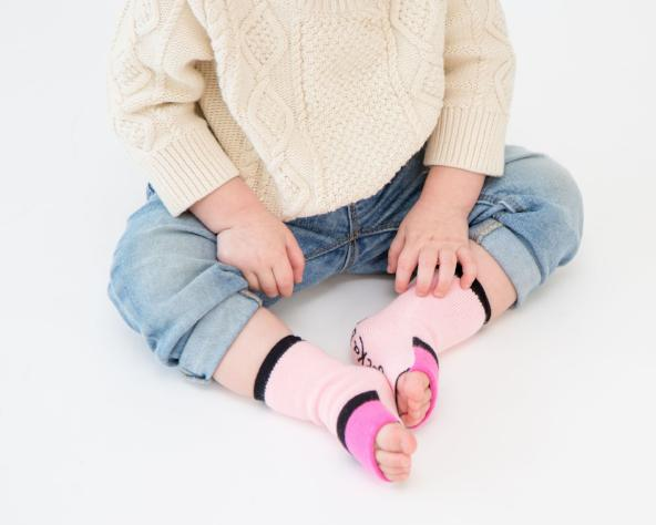 Baby | Pinks | Gripper Sock | Sockabu