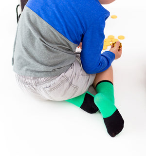 Big Kids | Laguna Greens | Gripper Sock | Sockabu