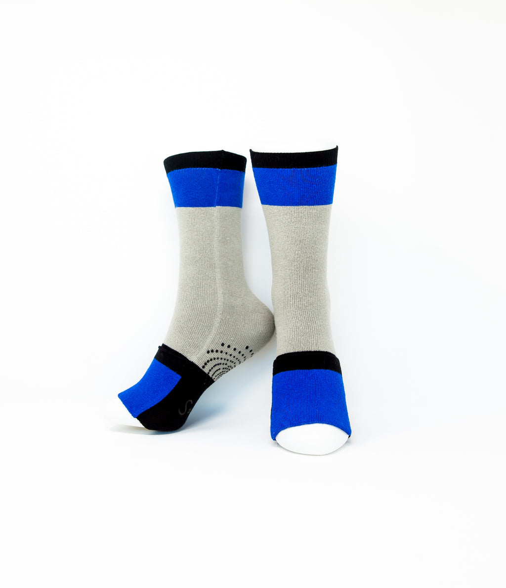 Adult Sockabu Socks - Royal Blue/Grey/Black