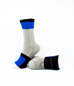 Big Kids Sockabu Socks - Royal Blue/Grey/Black