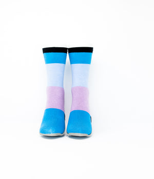 Adult Sockabu Socks - Sky Blue/Light Blue / Lavender