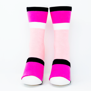 Adult Sockabu Socks - Pink/Grey