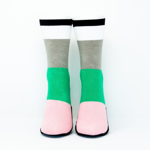 Adult Sockabu Socks - Mint/Light Pink/Black