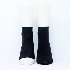 Adult Ankle Socks with Compression - Black