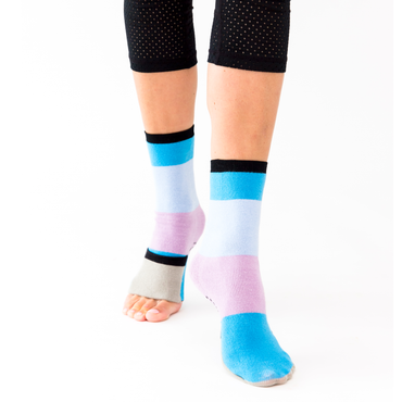 Big Kids Sockabu Socks - Sky Blue/Light Blue / Lavender