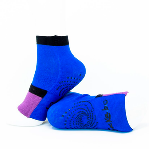 Adult Ankle Socks with Compression - Royal Blue/Purple