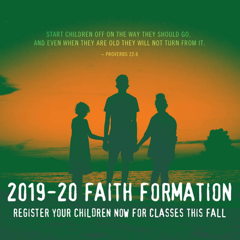 August – Youth Faith Formation Registration