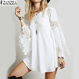Bell Sleeve Crochet Top/Mini Dress