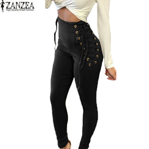 High Waist Lace-Up Leggings