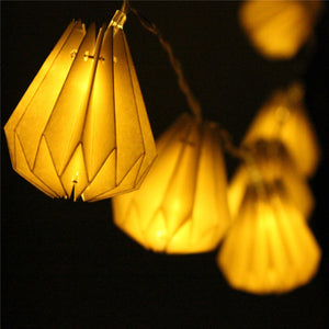 Diamond Paper Lantern 10 LED String Lights