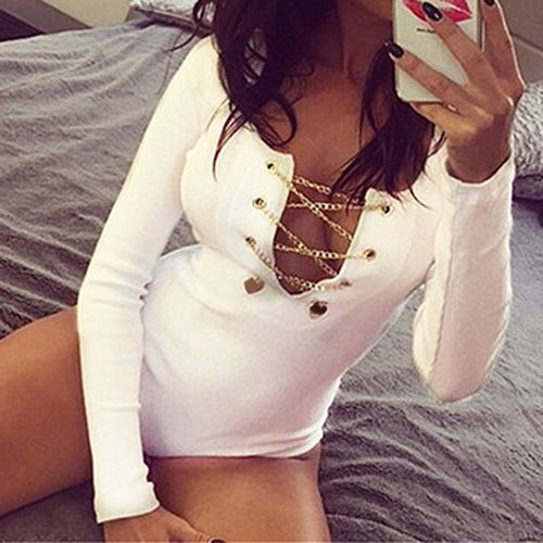 Naughty Names Gold Chain BodySuit
