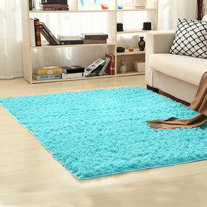 Bright Beach Faux Furry Rug