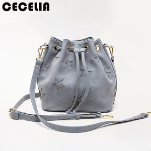 Gray Star Crossed Bag