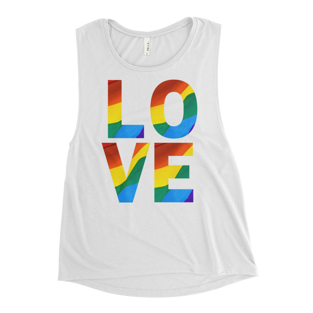 Pride, Equality and LOVE Muscle Tank