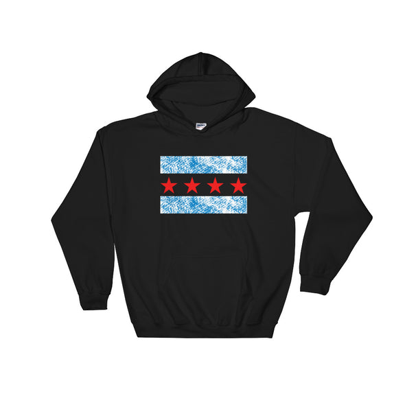 Chicago Flag Sweatshirt - Chicago Flag Printed Hooded Sweatshirt