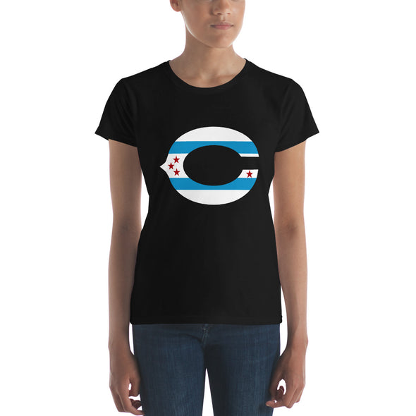 Chicago Flag T-Shirt - Chicago Flag on C Letter Women's T-Shirt