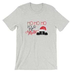 Ho Ho Ho Pour The Merlot Funny Christmas T-Shirt