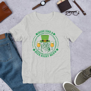 Irish I Had a Beer Right Meow T-Shirt