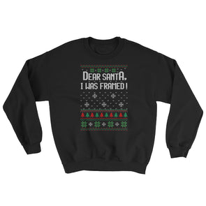 Ugly Christmas Sweater : Dear Santa I Was Framed Sweatshirt