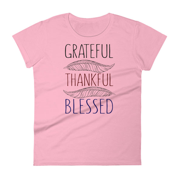 Grateful Thankful Blessed Shirt for Women