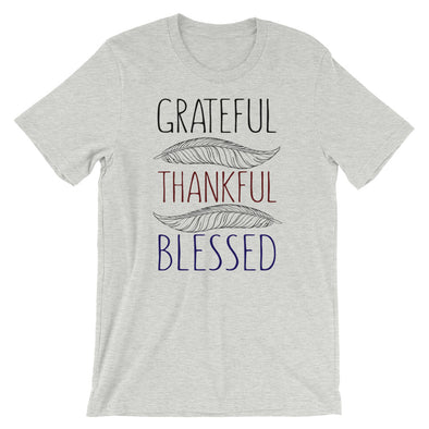 Grateful Thankful Blessed Unisex T-Shirt for Thanksgiving