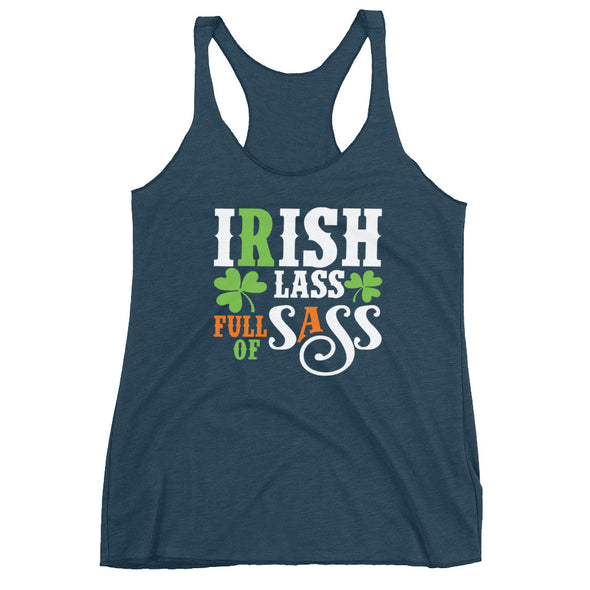 Irish Lass Full of Sass Racerback Tank for Women