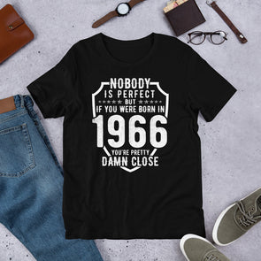 Nobody is Perfect But If You Were Born In 1966 T-Shirt for Men