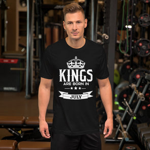 Kings are Born in July T-Shirt for Men