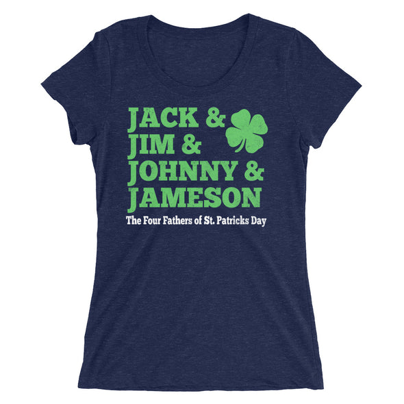 Jack & Jim & Johnny & Jameson Four Fathers of St. Patrick's Day T-Shirt