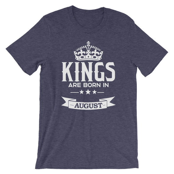 Kings are Born in August T-Shirt for Men