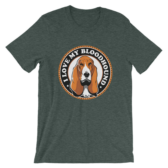 I Love My Bloodhound Men's T-Shirt