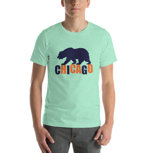 Bear Walking on Chicago - Short-Sleeve T-Shirt for Men