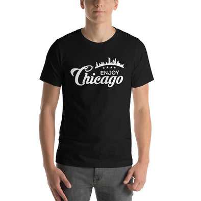 Enjoy Chicago with Skyline - Custom Printed T-Shirt for Men