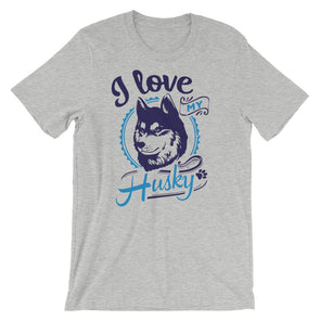 I Love My Husky T-Shirt for Men