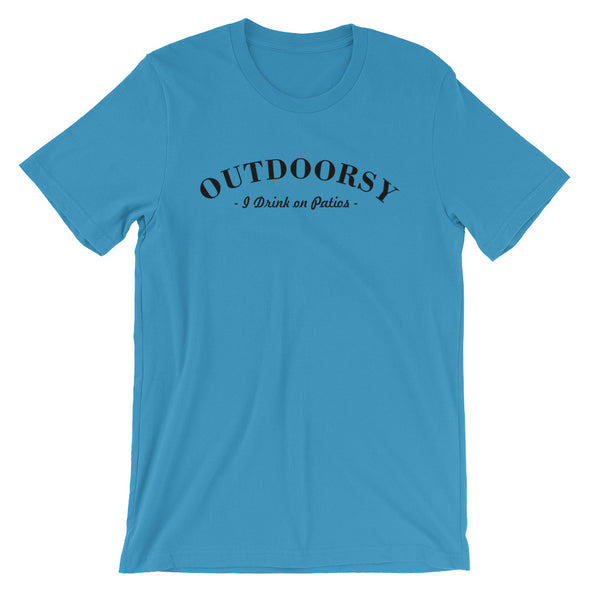 I am Outdoorsy Drink on Patios T-Shirt for Men