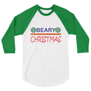 Beary Christmas Longsleeves T-Shirts - 3/4 sleeve raglan shirt