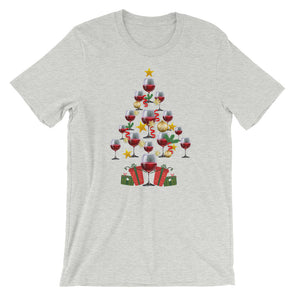 Christmas Tree for Wine Lover - Funny Christmas Unisex T-Shirt