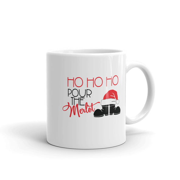 Ho Ho Ho Pour The Merlot Coffee Mug