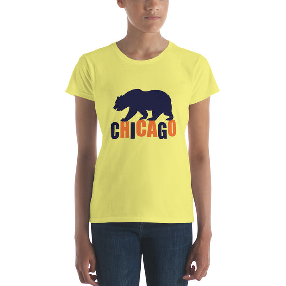 Bear Walking on Chicago - Women's Shirt
