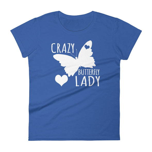 Crazy butterfly Lady t-shirt for Women