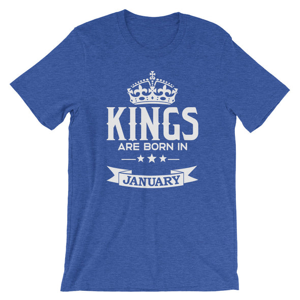 Kings are Born in January T-Shirt for Men