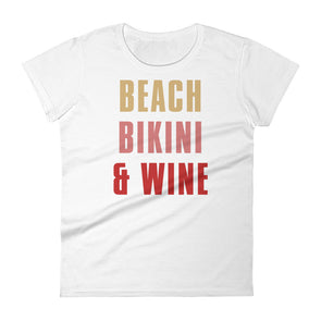 Beach Bikini & Wine T-Shirt