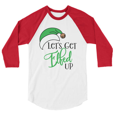 Let''s Get Elfed Up Christmas Baseball Tee