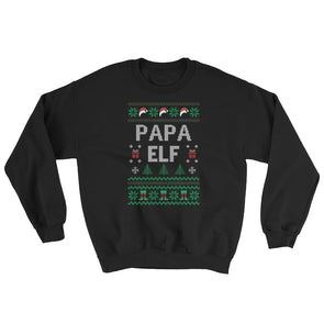 Ugly Christmas Sweater : Papa Elf Sweatshirt